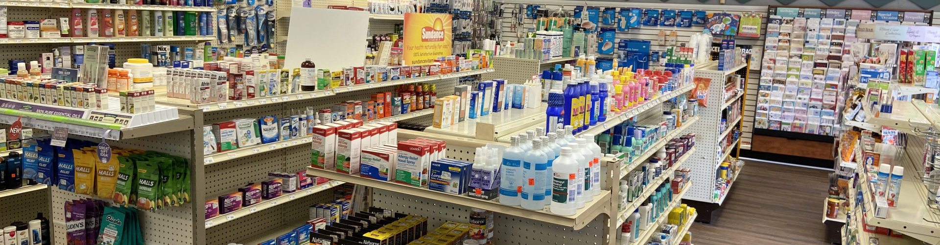 pharmacy store filled with products